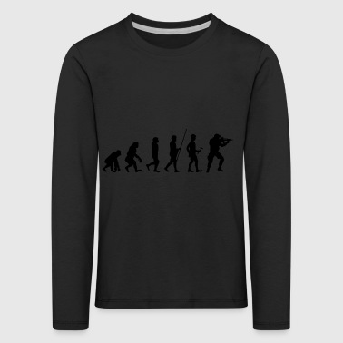 Evolution to the Soldier T-Shirt Gift - Kids' Premium Longsleeve Shirt