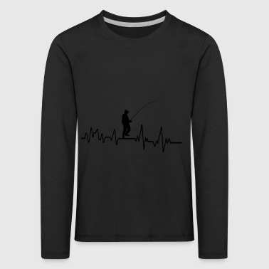 Heartbeat Fishing T-Shirt Gift Leisure Fishing - Kids' Premium Longsleeve Shirt
