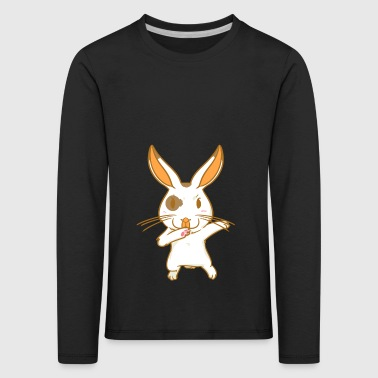Rabbit - karate - fighting hare - dancing hare - Kids' Premium Longsleeve Shirt