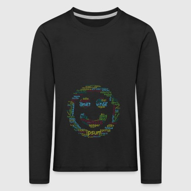 smile for life typo - Kids' Premium Longsleeve Shirt
