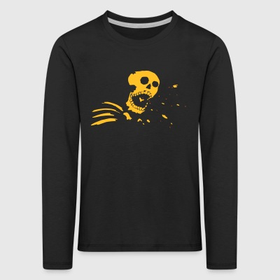 Live almost, the young - skull motif - Kids' Premium Longsleeve Shirt