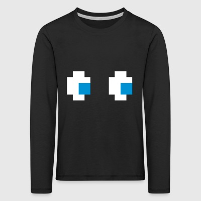 Ghost Eyes Ghost Eyes Comic Computer Game Console - Kids' Premium Longsleeve Shirt