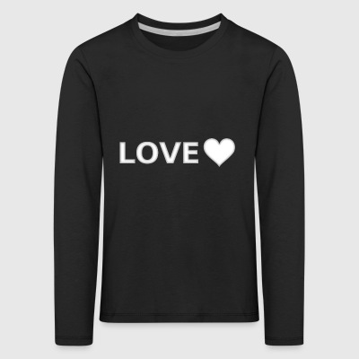 Love Heart In Love Statement Hipster Trend - Kids' Premium Longsleeve Shirt