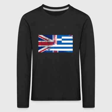 British Greek Half Greece Half UK Flag - Kids' Premium Longsleeve Shirt