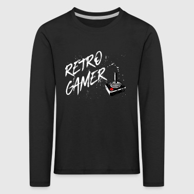 Retro gamer - gaming vintage retro joystick game - Kids' Premium Longsleeve Shirt