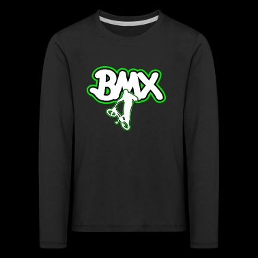BMX bicycle logo gift - Kids' Premium Longsleeve Shirt