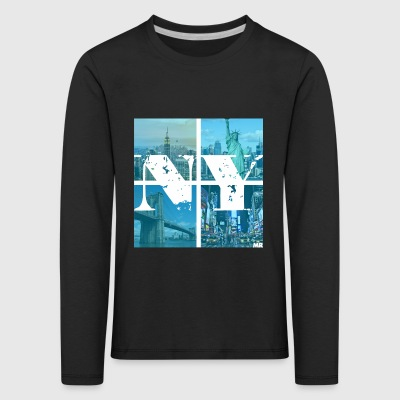 NEW YORK BLUE - Kinder Premium Langarmshirt
