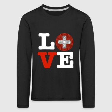 Switzerland heart - Kids' Premium Longsleeve Shirt