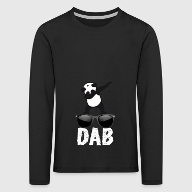 dab panda brille dabbing Dance Football fun cool l - Kinder Premium Langarmshirt