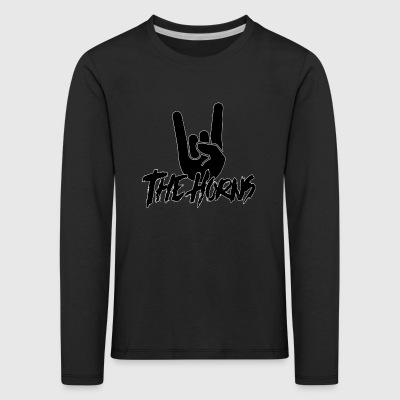 The Horns - Logo - Kids' Premium Longsleeve Shirt