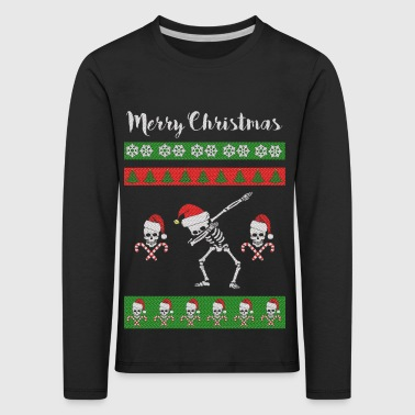 Merry Christmas - Ugly Sweater Skull Dab it - Kids' Premium Longsleeve Shirt