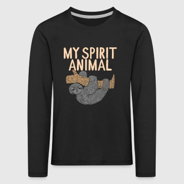 My spirit animal sloth funny shirt gift - Kids' Premium Longsleeve Shirt