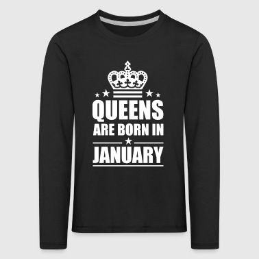 Queens birthday - Kinder Premium Langarmshirt