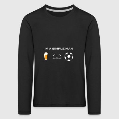 simple man like boobs bier beer titten fussball ul - Kinder Premium Langarmshirt
