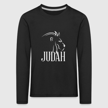 Tribu de Juda Lion T-Shirt Messianique Yahshua - T-shirt manches longues Premium Enfant
