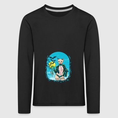 Cool Lady Cat - Kinder Premium Langarmshirt