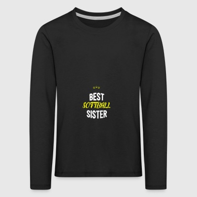 Distressed - BEST SOFTBALL SISTER - Kids' Premium Longsleeve Shirt