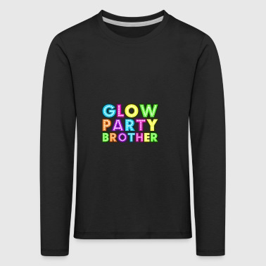 Glow Party Brother - Premium langermet T-skjorte for barn