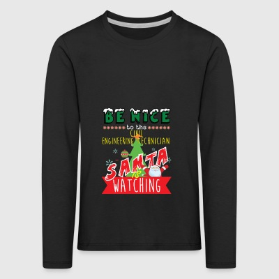 Civil Engineering Technician Christmas Gift Idea - Kids' Premium Longsleeve Shirt