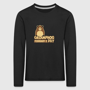 Groundhog Day 2 februari Weatherman Ground-Hog - Kinderen Premium shirt met lange mouwen