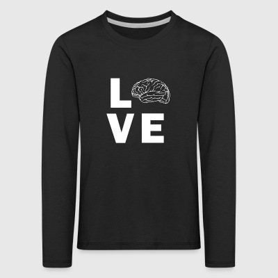 Love Brain - Kids' Premium Longsleeve Shirt