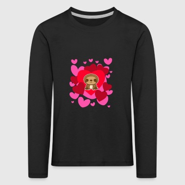 Camiseta Sloth Love Valentine's Day Cute Romantic - Camiseta de manga larga premium niño