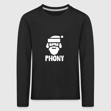Phony Anti-Christmas Hate Xmas Commercialization - Kids' Premium Longsleeve Shirt