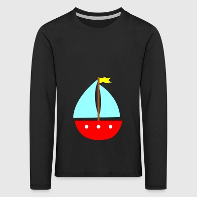 paddle boat sail boat rowing boat sailboat65 - Kids' Premium Longsleeve Shirt