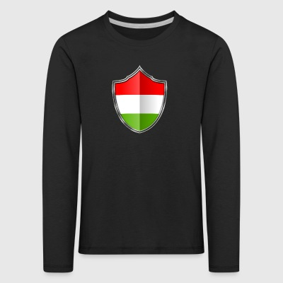 Hungary flag coat of arms silver 015 - Kids' Premium Longsleeve Shirt