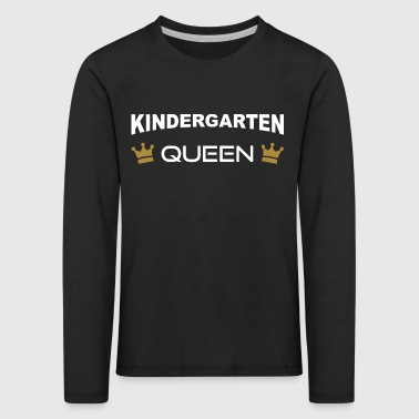 Kindergarten Queen with crown - Kids' Premium Longsleeve Shirt