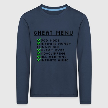Gaming Cheat Menu - Kids' Premium Longsleeve Shirt