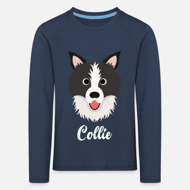 Border Collie Collie - Border Collie - Premium langærmet T-shirt til børn