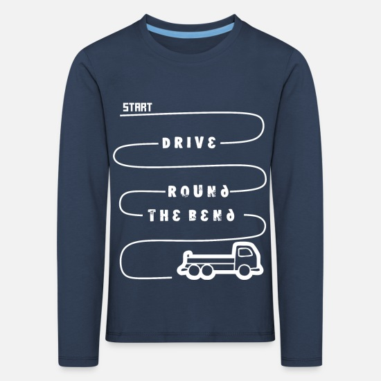 Container Long Sleeve Shirts - Truck Trucker - Kids' Premium Longsleeve Shirt navy