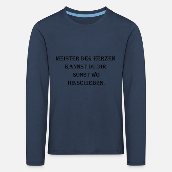 Love Long sleeve shirts - Master of the hearts - Kids' Premium Longsleeve Shirt navy