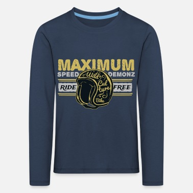Maximum Speed Motorbike - Kinder Premium Langarmshirt