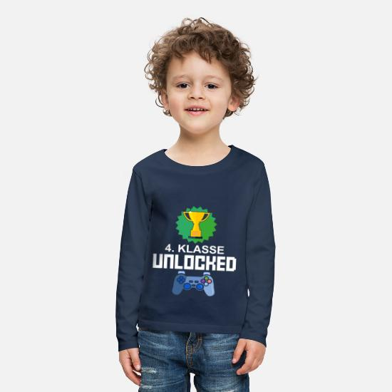 Gift Idea Long Sleeve Shirts - Level Unlocked 4th grade gamer gift gaming - Kids' Premium Longsleeve Shirt navy