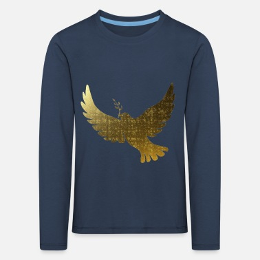 Golden peace doves - Kids' Premium Longsleeve Shirt