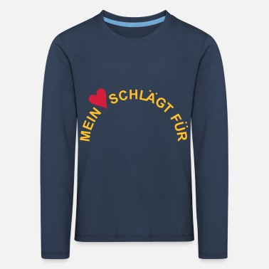 Declaration Of Love MY HEART BEATS FOR ... Your Text / Emblem - Kids' Premium Longsleeve Shirt