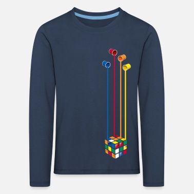 Rubik's Cube Colourful Paint Buckets - Kinderen premium longsleeve