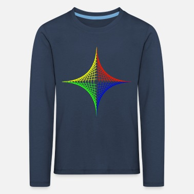 Geometric design Color intensive - Kids' Premium Longsleeve Shirt