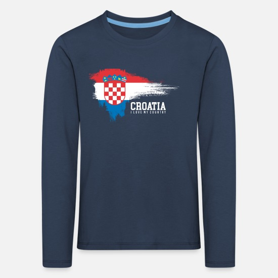 Patriot Long sleeve shirts - Croatia - Kids' Premium Longsleeve Shirt navy
