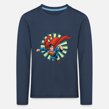 Superman Superman Flying Pose Teenager Longsleeve - Kinderen Premium shirt met lange mouwen