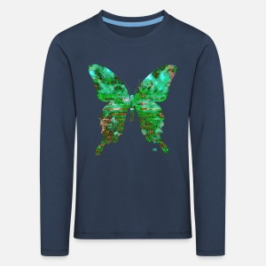 860bbbe0145c3 Papillon vert émeraude T-shirt premium Enfant   Spreadshirt