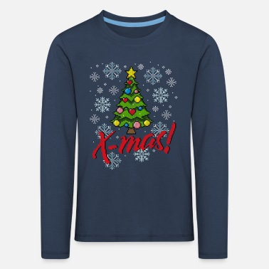 Ugly Christmas Sweater (Tree) - T-shirt manches longues Premium Enfant