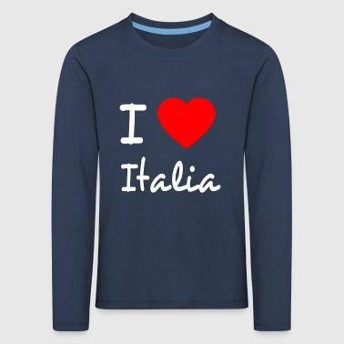 I LOVE ITALY - T-shirt manches longues Premium Enfant