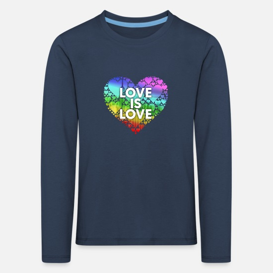 Bisexual Long Sleeve Shirts - Love Is Love Ny - Kids' Premium Longsleeve Shirt navy