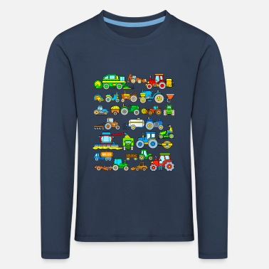 Harvester Tractor tractor farm machinery - Kids' Premium Longsleeve Shirt