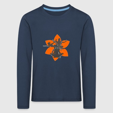 Dancing girl on lotus flower - gift idea - Kids' Premium Longsleeve Shirt