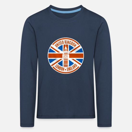 England Long sleeve shirts - united kingdom - london - Kids' Premium Longsleeve Shirt navy