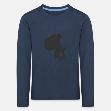 Skater on a skateboard - Kids' Premium Longsleeve Shirt